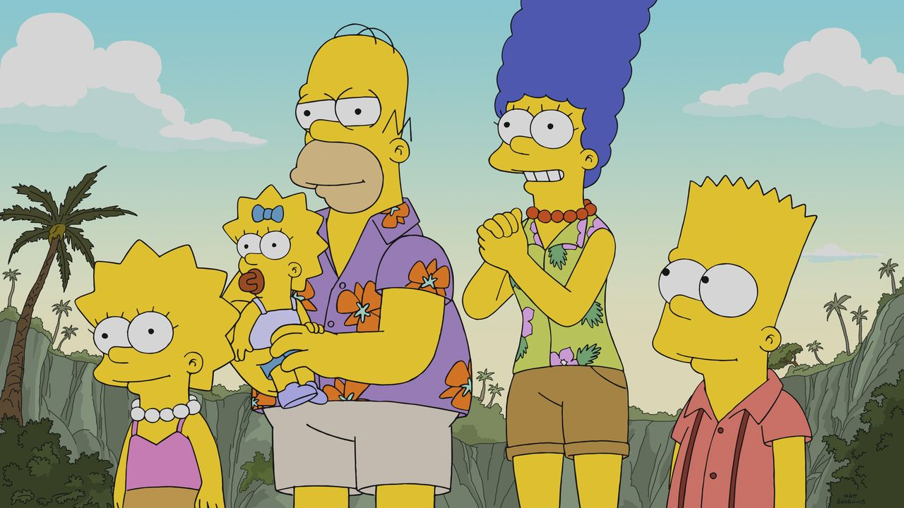 (v.l.n.r.) Lisa; Maggie; Homer; Marge; Bart - Bildquelle: 2018-2019 Fox and its related entities.  All rights reserved.