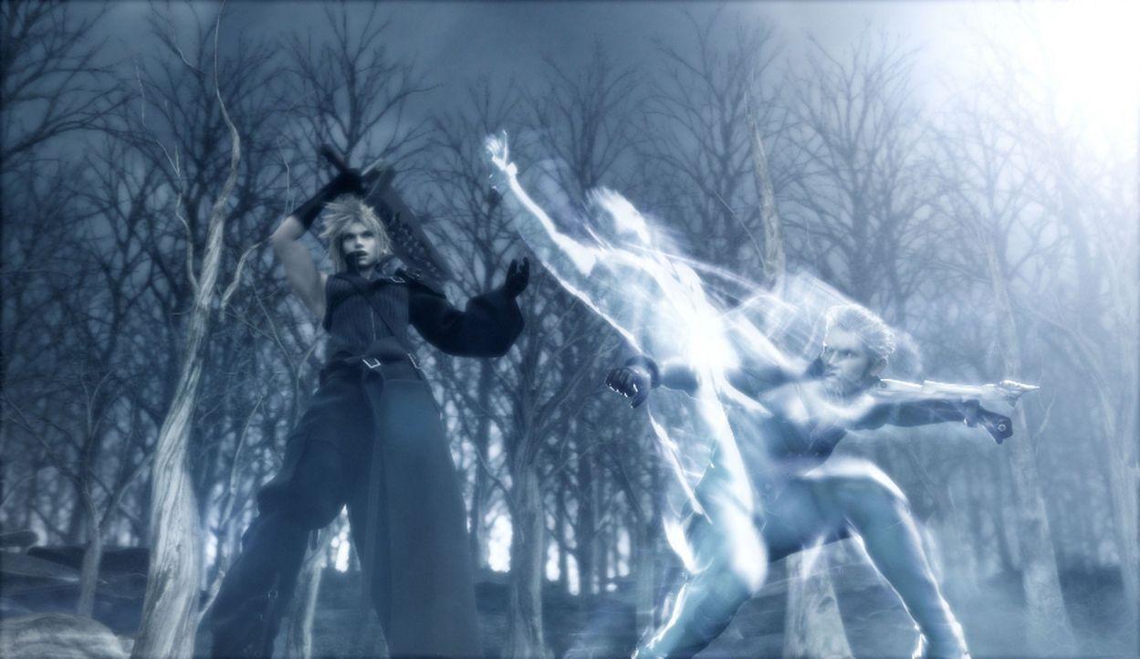 """Cloud hat der Kadaj-Gang den Kampf angesagt! Diese versucht eine Wiedervereinigung mit der """"Mutter"""" zu erreichen, was Cloud unbedingt verhindern mus... - Bildquelle: 2005 Square Enix Co., LTD. All Rights Reserved."""