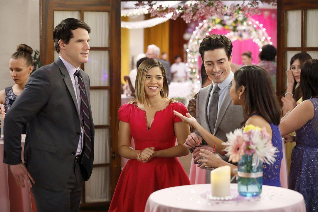 (v.l.n.r.) Adam (Ryan Gaul); Amy (America Ferrera); Jonah (Ben Feldman); Kristen (Brenda Song) - Bildquelle: Trae Patton 2016 Universal Television LLC. ALL RIGHTS RESERVED. / Trae Patton