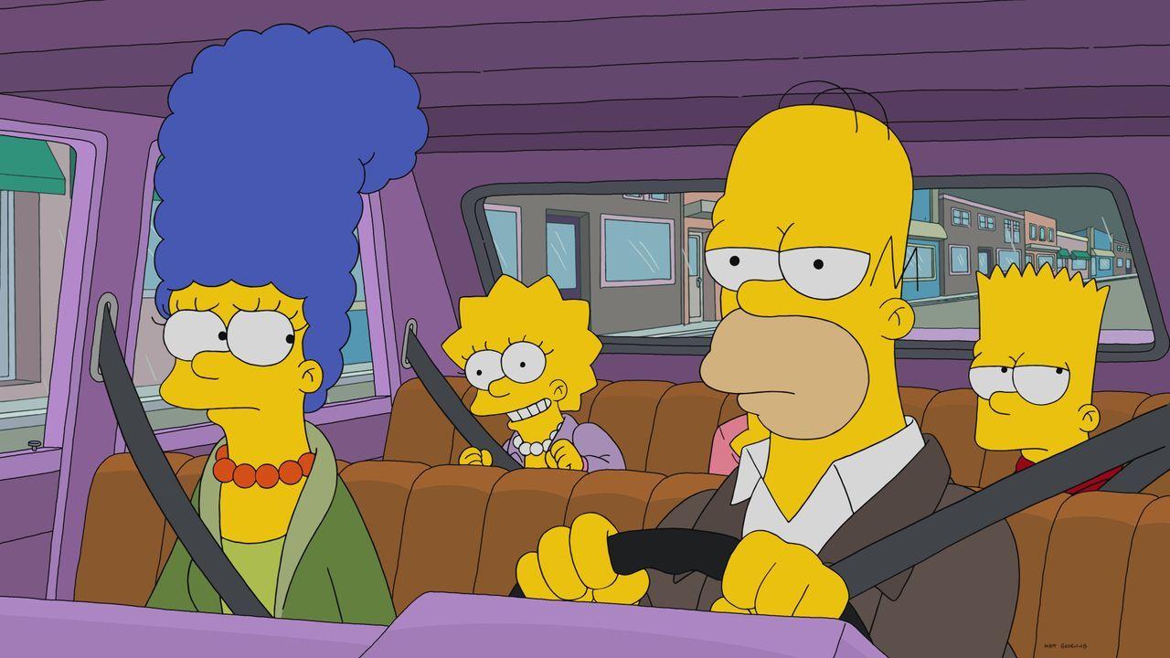 (v.l.n.r.) Marge, Lisa, Homer und Bart besuchen eine Wissenschaftsausstellung und erleben einige Überraschungen ... - Bildquelle: 2017-2018 Fox and its related entities.  All rights reserved.