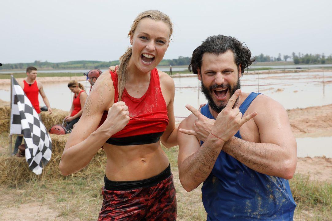 Global Gladiators - Miriam Höller und Manuel Cortez - Bildquelle: ProSieben/Richard Hübner