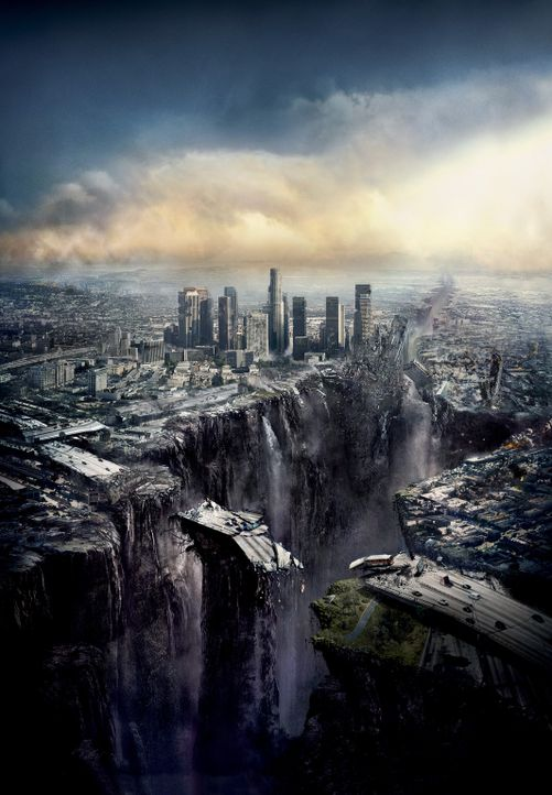 2012 - Artwork - Die Welt steht vor einer Katastrophe apokalyptischen Ausmaßes, bei der ganze Städte einstürzen und die Kontinente zerfallen werd... - Bildquelle: 2009 Columbia Pictures Industries, Inc. All Rights Reserved.