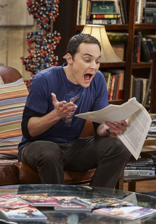 Als Sheldon (Jim Parsons) Berts Arbeit liest, muss er zu seinem Entsetzen feststellen, dass sie tatsächlich bahnbrechend ist. Das führt dazu, dass s... - Bildquelle: 2016 Warner Brothers