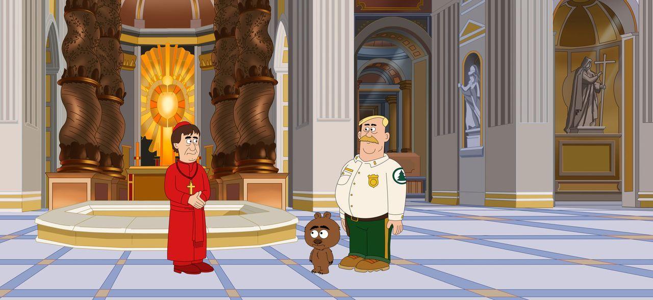 Das Aussehen seiner  Hämorrhoiden hat sich herumgesprochen, da wird Woody (r.) auch schon zusammen mit Malloy (2.v.r.) in den Vatikan eingeladen. Gu... - Bildquelle: 2014 Twentieth Century Fox Film Corporation and Comedy Partners.  All rights reserved.