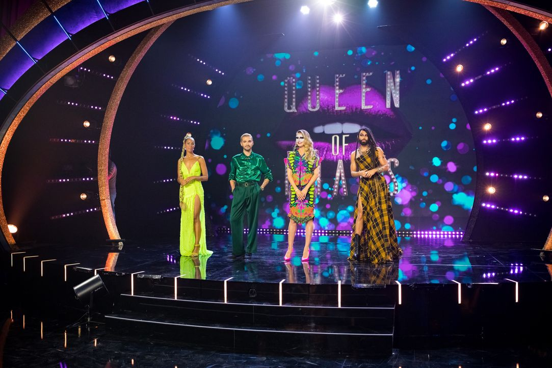 (v.l.n.r.) Leona Lewis; Bill Kaulitz; Heidi Klum; Conchita Wurst - Bildquelle: Martin Ehleben ProSieben / Martin Ehleben