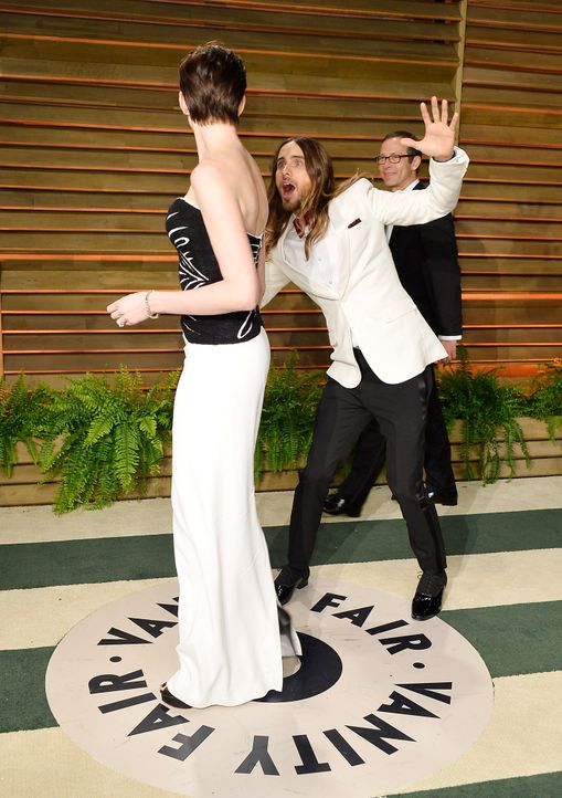 Oscars-Vanity-Fair-Party-Anne-Hathaway-Jared-Leto-140302-getty-AFP - Bildquelle: getty-AFP