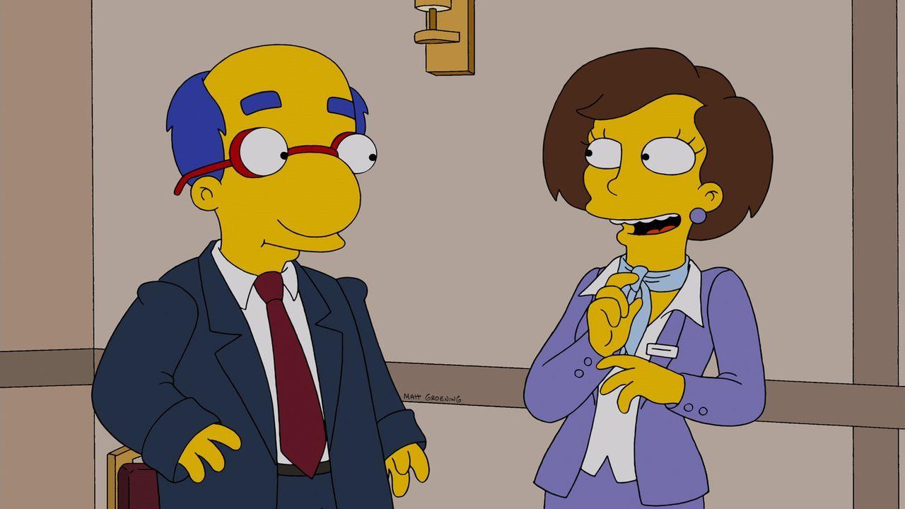 Bart und Milhouse erkunden die Vorzüge des Erwachsenenlebens, nachdem ein Rasur-Experiment dazu führt, dass Milhouse (l.) genauso aussieht wie sein... - Bildquelle: und TM Twentieth Century Fox Film Corporation - Alle Rechte vorbehalten