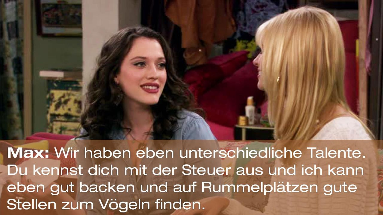 2-broke-girls-zitat-staffel1-episode-21-steuersumpf-max-talentei-warnerpng 1600 x 900 - Bildquelle: Warner Brothers Entertainment Inc.