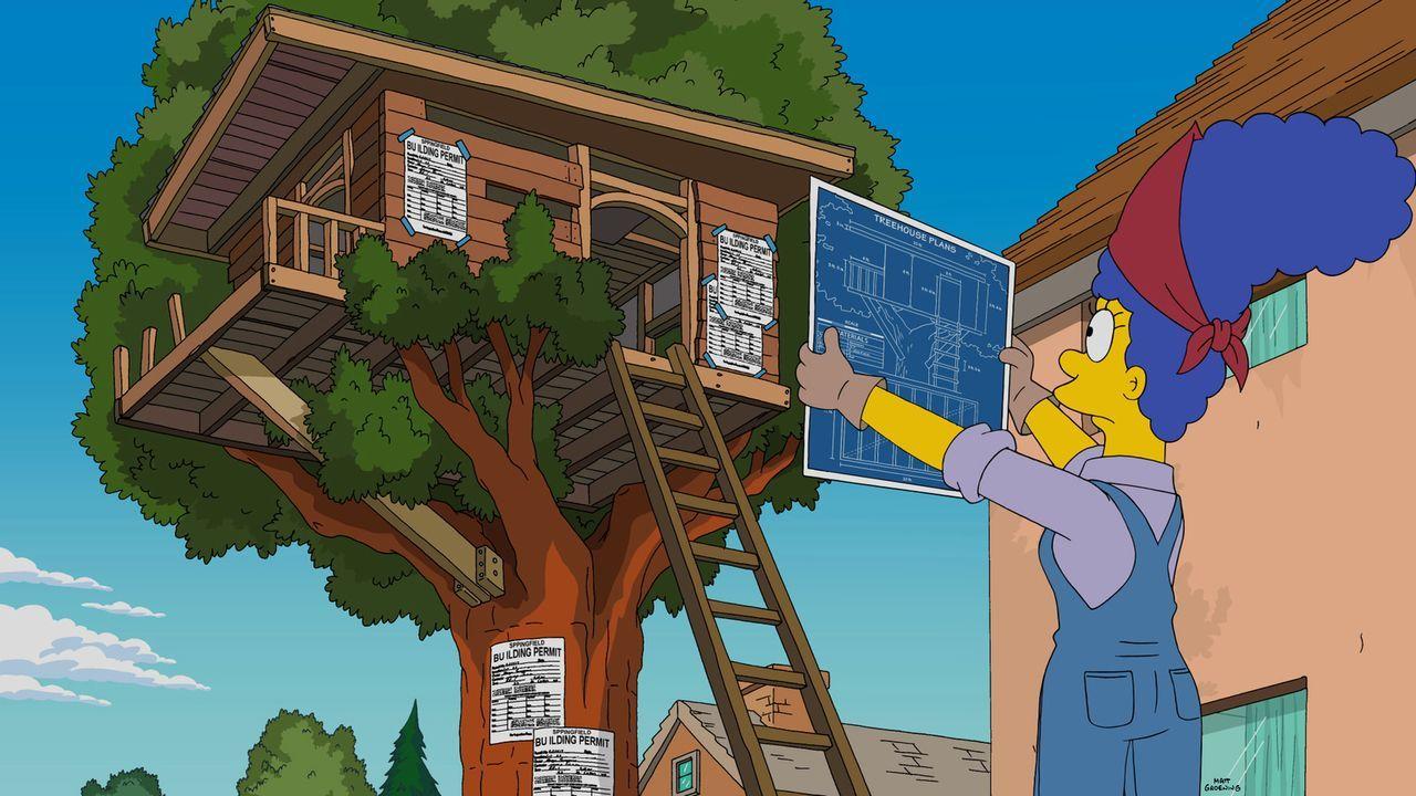 Da Barts Baumhaus in die Jahre gekommen ist, kümmert sich Marge um ein Neues. Mit Erfolg ... - Bildquelle: 2015 Fox and its related entities.  All rights reserved.