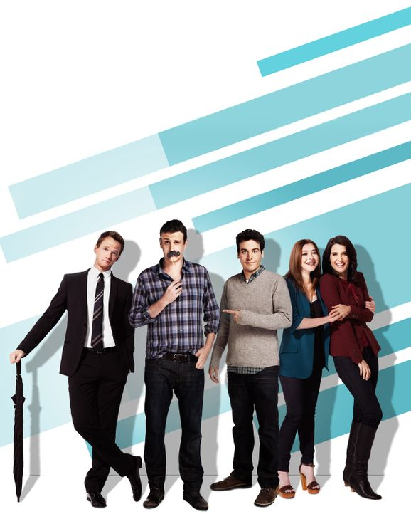 (9. Staffel) - how i met your mother: Ted (Josh Radnor, M.), Marshall (Jason Segel, 2.v.l.), Barney (Neil Patrick Harris, l.), Lily (Alyson Hannigan... - Bildquelle: 2013 Twentieth Century Fox Film Corporation. All rights reserved.