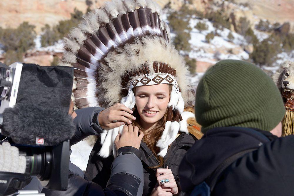 GNTM-Stf09-Epi08-Indianer-Shooting-02-ProSieben-Oliver-S - Bildquelle: ProSieben/Oliver S.