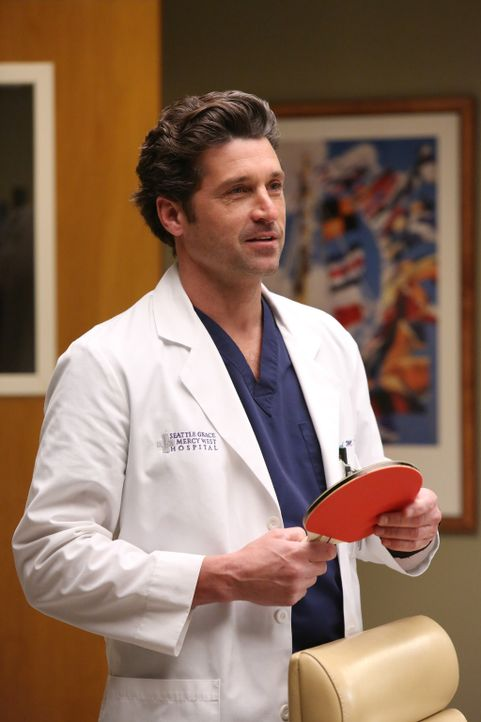 Callie hat vor, Derek (Patrick Dempsey) den ganzen Tag lang Tischtennis spielen zu lassen, da er dabei dieselben Handbewegungen macht wie bei einer... - Bildquelle: ABC Studios