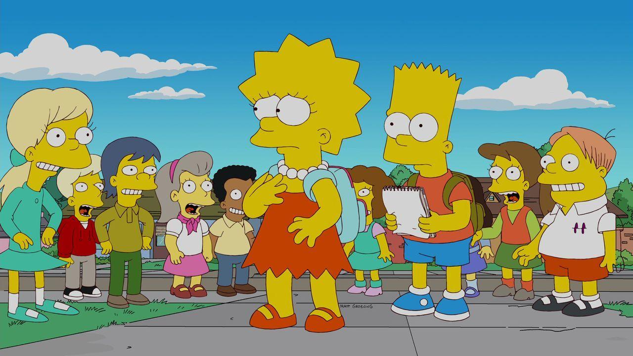 Wurde zur unbeliebtesten Schülerin der Schule gewählt wird: Lisa Simpson (M.l.) ... - Bildquelle: und TM Twentieth Century Fox Film Corporation - Alle Rechte vorbehalten