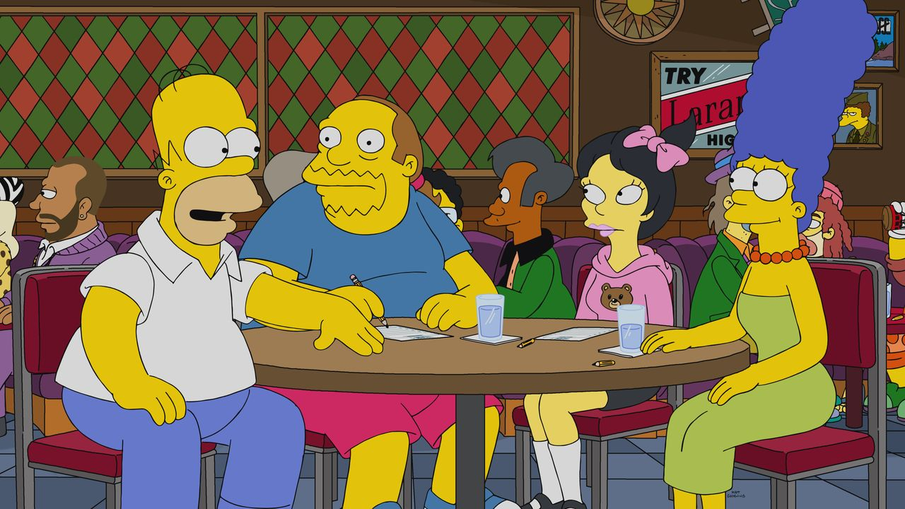 (v.l.n.r.) Homer; Jeff; Kumiko; Marge - Bildquelle: 2020 by Twentieth Century Fox Film Corporation.