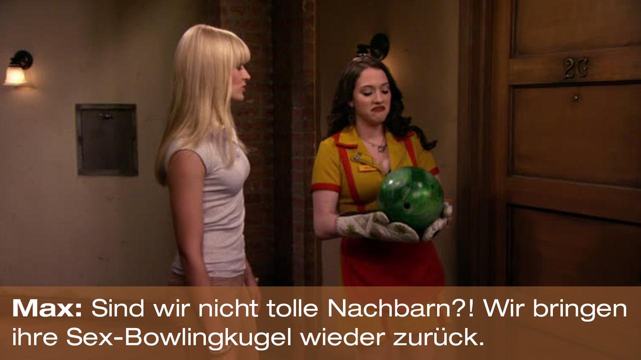 2-Broke-Girls-Zitat-Quote-Staffel2-Episode20-Das-Loch-in-der-Decke-Max-Bowlingkugel-Warner - Bildquelle: Warner Bros. Television