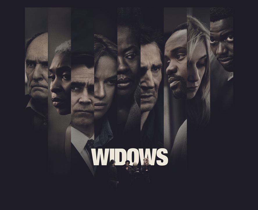 Widows - Tödliche Witwen - Artwork - (v.l.n.r.) Tom Mulligan (Robert Duvall); Belle (Cynthia Erivo); Jack Mulligan (Colin Farrell); Linda (Michelle... - Bildquelle: 2018 Twentieth Century Fox Film Corporation.  All rights reserved.