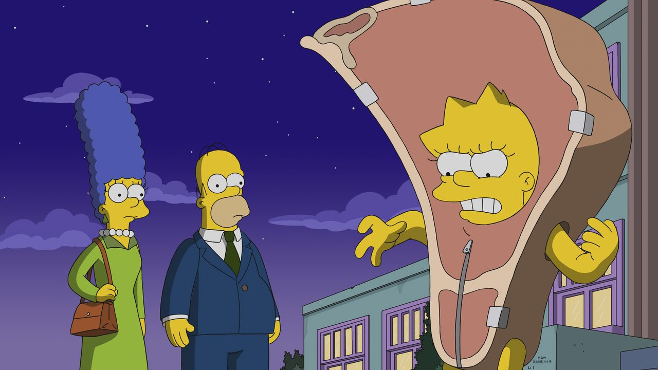 (v.l.n.r.) Marge; Homer; Lisa - Bildquelle: 2018-2019 Fox and its related entities. All rights reserved.