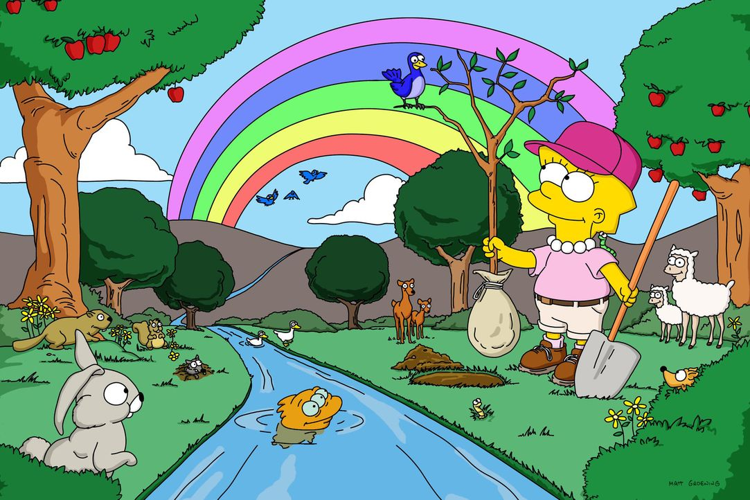 Springfield will einen Sequoiawald roden. Um dies zu verhindern, schließt sich Lisa den Umweltschützern an und begibt sich in Lebensgefahr. - Bildquelle: und TM Twentieth Century Fox Film Corporation - Alle Rechte vorbehalten