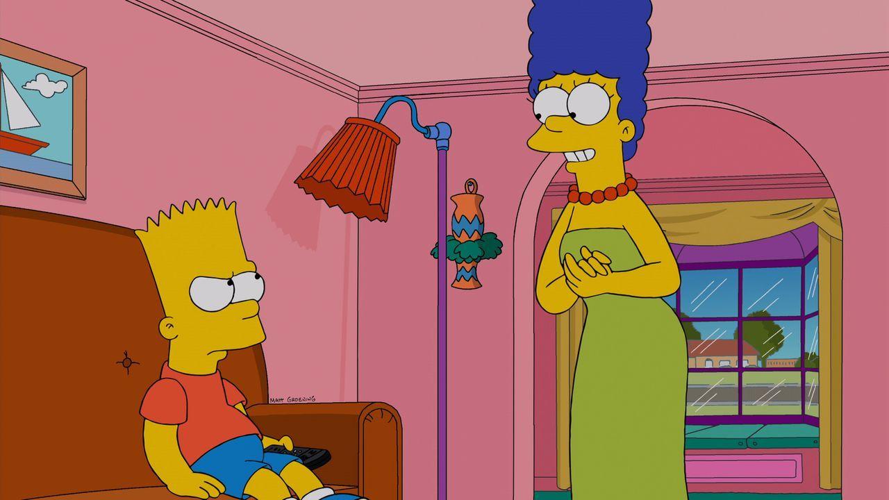 Während Homer seine letzten zwei Haare verliert, wird Bart (l.) gegen seinen Willen von Marge (r.) zur Musikschule geschickt ... - Bildquelle: und TM Twentieth Century Fox Film Corporation - Alle Rechte vorbehalten
