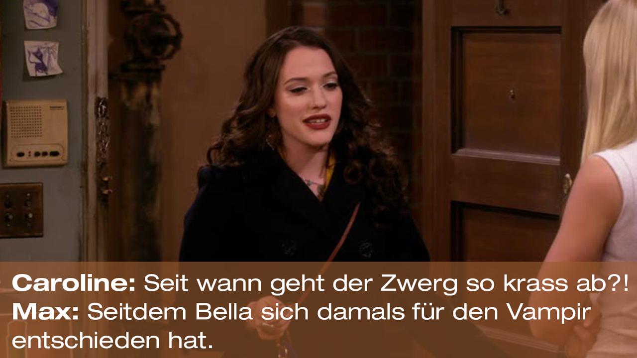 2-Broke-Girls-Zitat-Quote-Staffel2-Episode20-Das-Loch-in-der-Decke-Max-Bella-Warner - Bildquelle: Warner Bros. Television