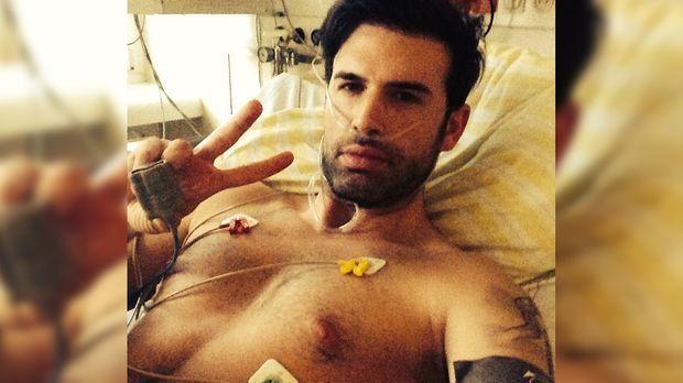 Dschungelcamp Star Jay Khan Schock Pic Aus Dem Krankenhaus