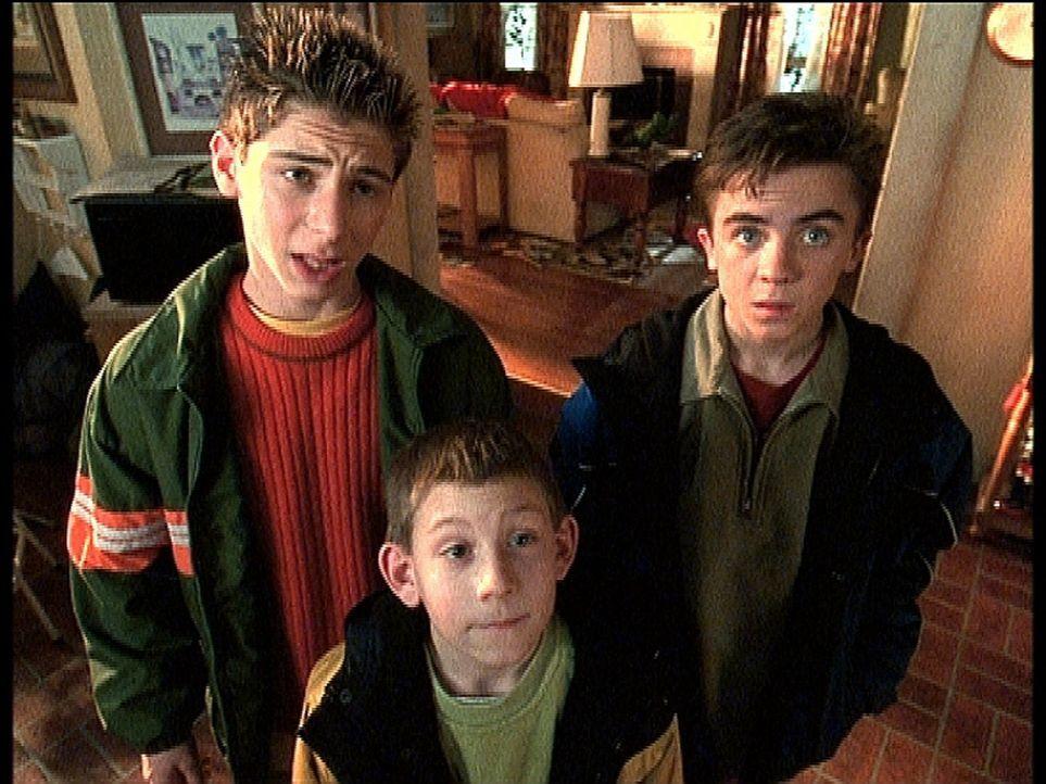Reese (Justin Berfield, l.), Dewey (Erik Per Sullivan, M.) und Malcolm (Frankie Muniz, r.) würden zu gerne auf den Jahrmarkt gehen. - Bildquelle: TM +   2000 Twentieth Century Fox Film Corporation. All Rights Reserved.