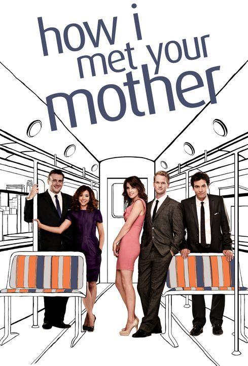 (7. Staffel) - how i met your mother: Ted (Josh Radnor, r.), Marshall (Jason Segel, l.), Barney (Neil Patrick Harris, 2.v.r.), Lily (Alyson Hannigan... - Bildquelle: 20th Century Fox International Television