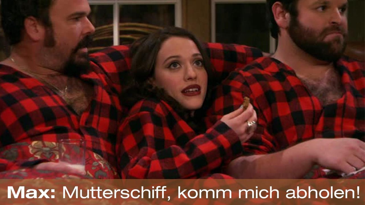 2-broke-girls-zitat-quote-staffel2-episode13-wochenende-max-mutterschiff-warnerpng 1600 x 900 - Bildquelle: Warner Bros. Television