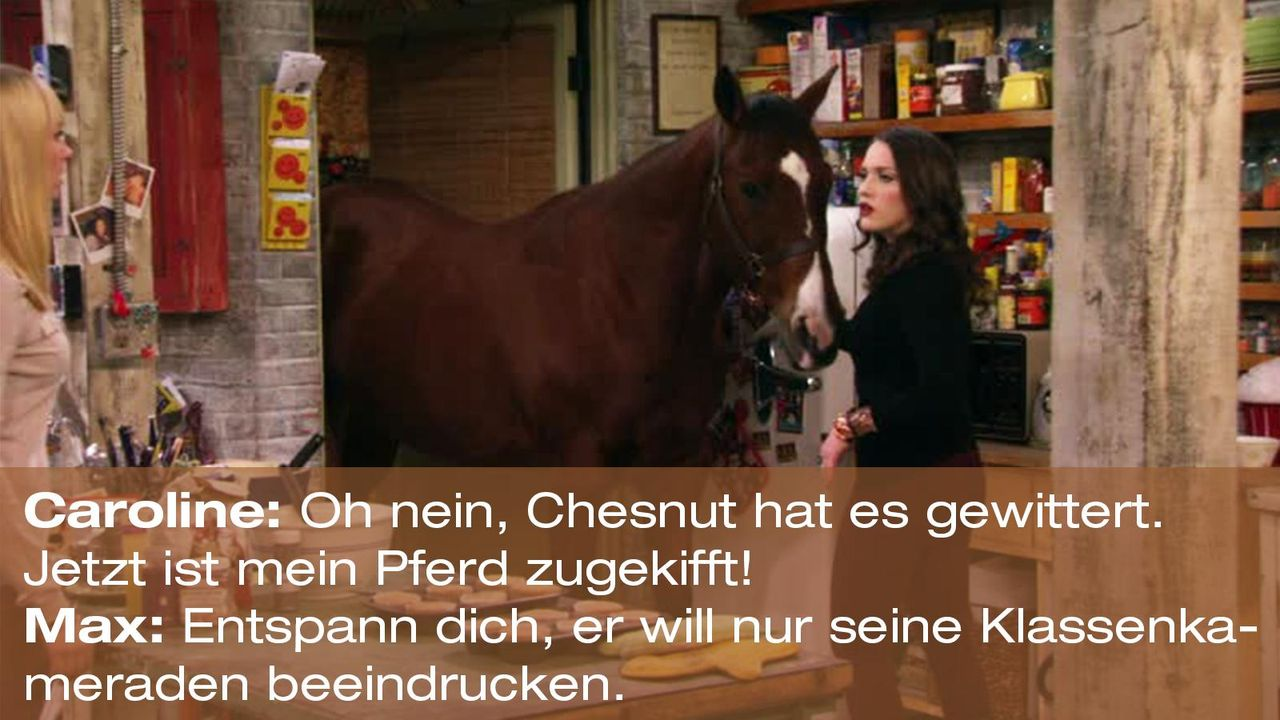 2-broke-girls-zitat-quote-staffel2-episode12-breite-weihnachten-max-chesnut-warnerpng 1600 x 900 - Bildquelle: Warner Bros. International Television