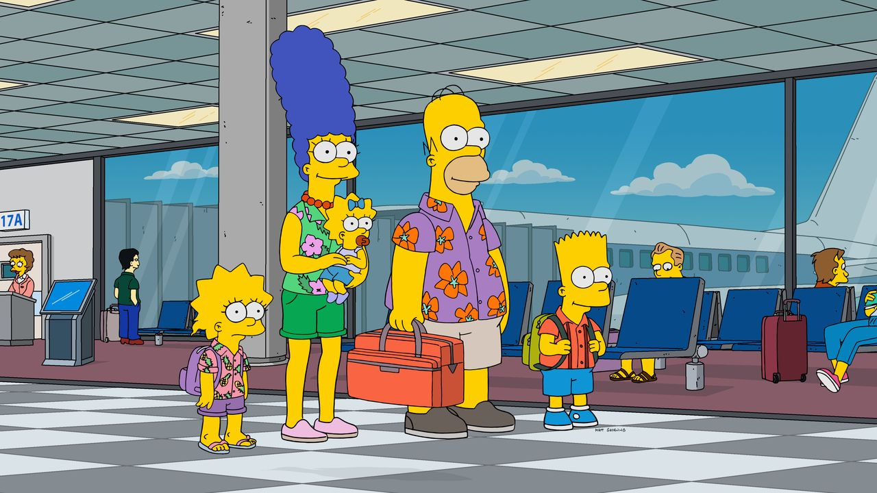 (v.l.n.r.) Lisa; Marge; Maggie; Homer; Bart - Bildquelle: 2019-2020 Twentieth Century Fox Film Corporation.  All rights reserved.