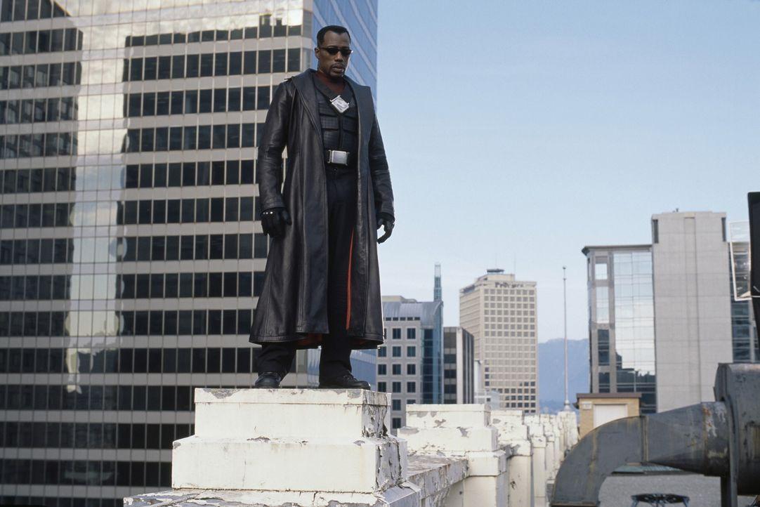 Nimmt den Kampf gegen den legendären Grafen Dracula auf: Blade (Wesley Snipes) ... - Bildquelle: New Line Cinema