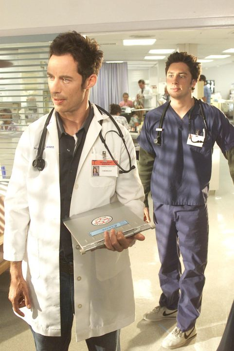 "Dan (Tom Cavanagh, l.); Dr. John ""J.D."" Dorian (Zach Braff, r.) - Bildquelle: Paul Drinkwater Touchstone Television / Paul Drinkwater"