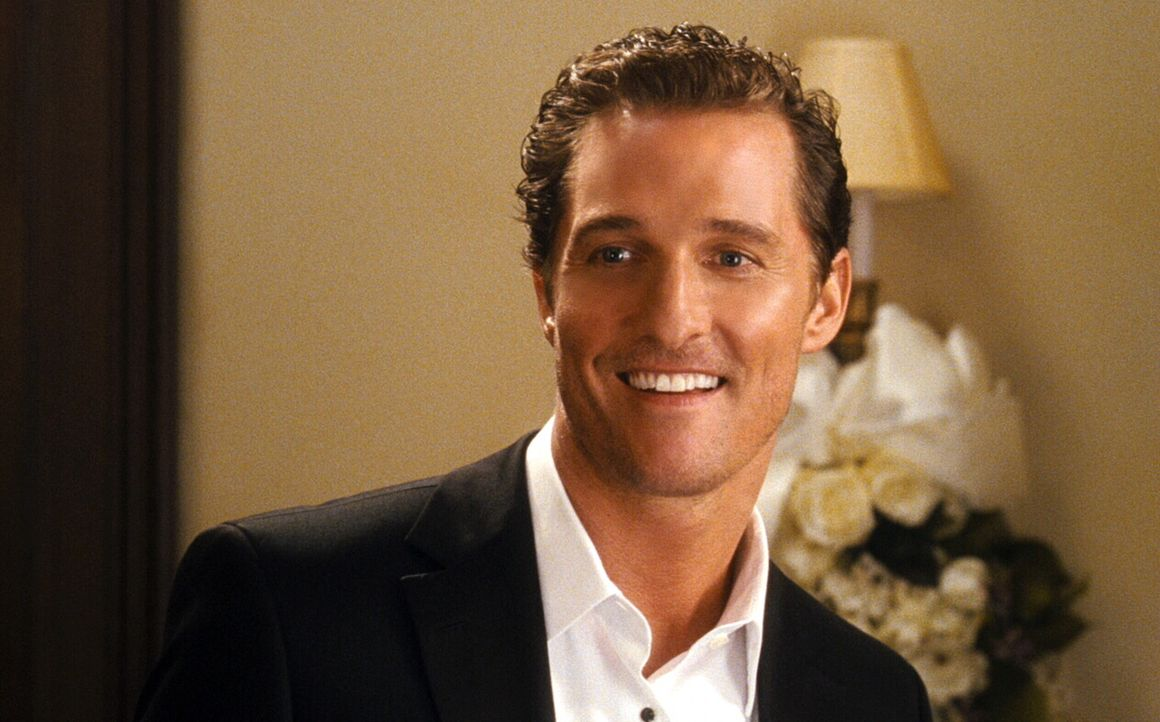 Starfotograf Connor (Matthew McConaughey) ist der Typ Mann, den eigentlich keine Frau haben möchte: egoistisch, gefühlskalt und hinter jedem Rock... - Bildquelle: 2008   Warner Brothers