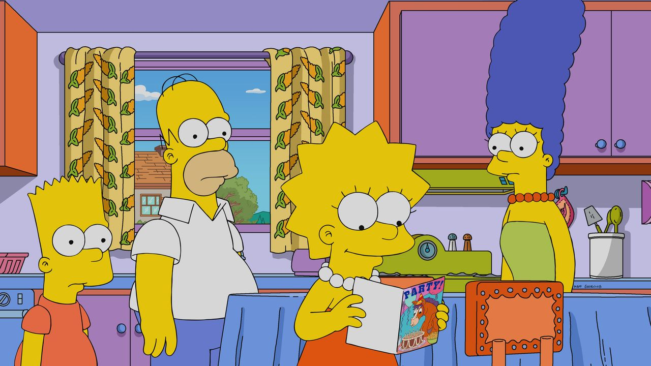 (v.l.n.r.) Bart; Homer; Lisa; Marge - Bildquelle: 2019-2020 Twentieth Century Fox Film Corporation.  All rights reserved.