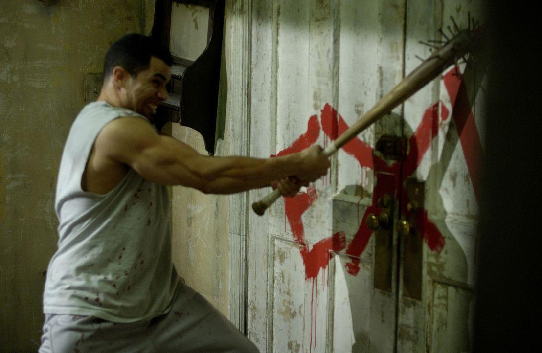 Voller Verzweiflung ergreift Xavier (Franky G.) jede sich ihm bietende Möglichkeit, um aus dem Horrorhaus zu entkommen. Doch es scheint keinen Fluch... - Bildquelle: Kinowelt Filmverleih