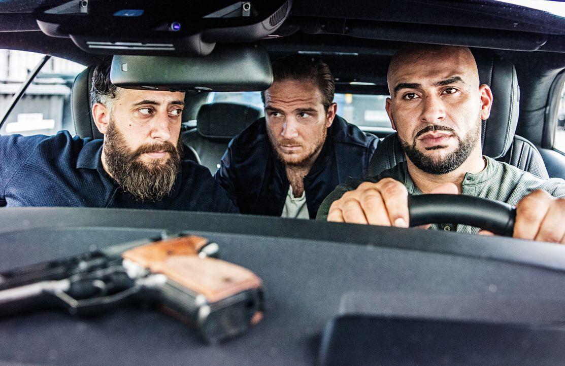 (1. Staffel) - (v.l.n.r.) Toni (Kida Khodr Ramadan); Vince (Frederick Lau); Abbas (Veysel Gelin) - Bildquelle: 2017 Turner Broadcasting System Europe Limited & Wiedemann & Berg Television GmbH & Co.