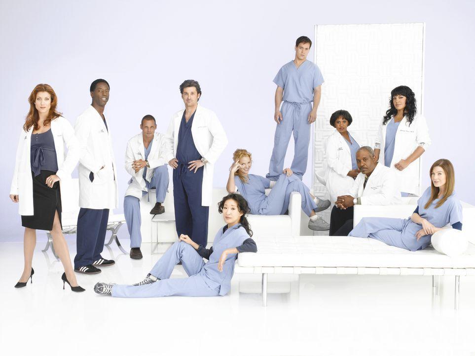 (3. Staffel) - Machen sie sich daran, den unberechenbaren Krankenhausalltag zu meistern: (v.l.n.r.) Dr. Addison Shepard (Kate Walsh), Dr. Preston Bu... - Bildquelle: Bob D'Amico Touchstone Television