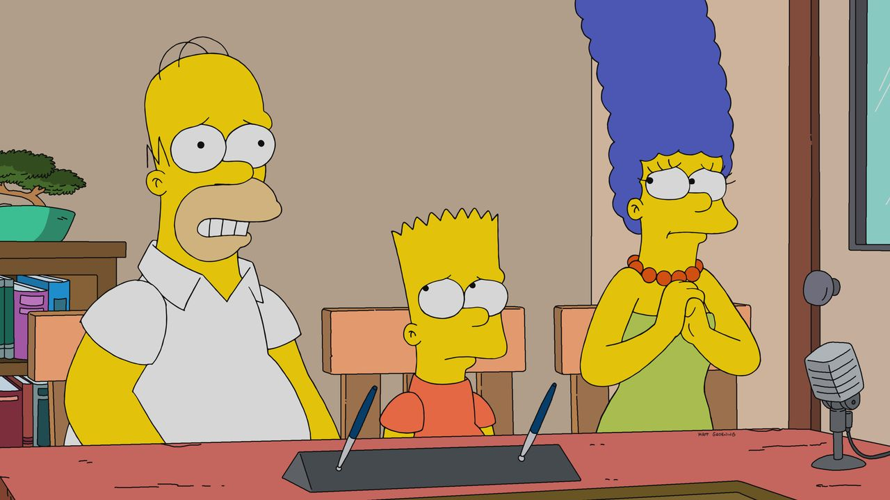 (v.l.n.r.) Homer; Bart; Marge - Bildquelle: 2019-2020 Twentieth Century Fox Film Corporation.  All rights reserved.