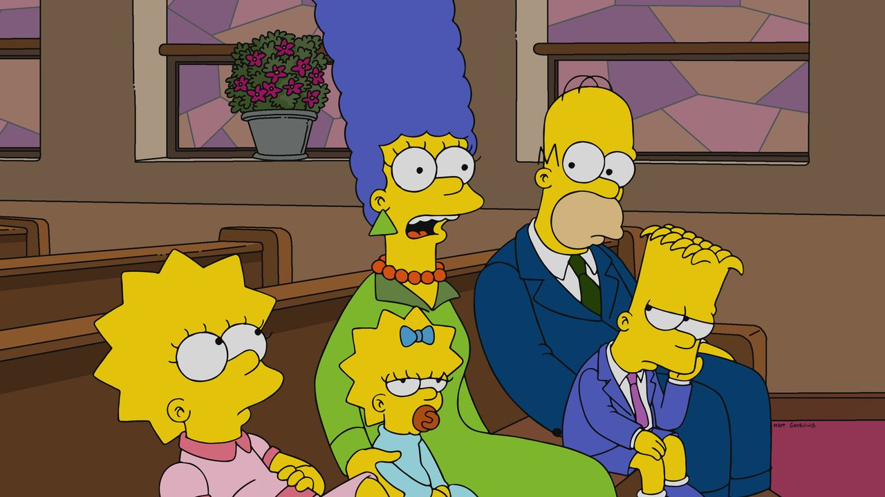 (v.l.n.r.) Lisa; Maggie; Marge; Homer; Bart - Bildquelle: 2019-2020 Twentieth Century Fox Film Corporation.  All rights reserved.