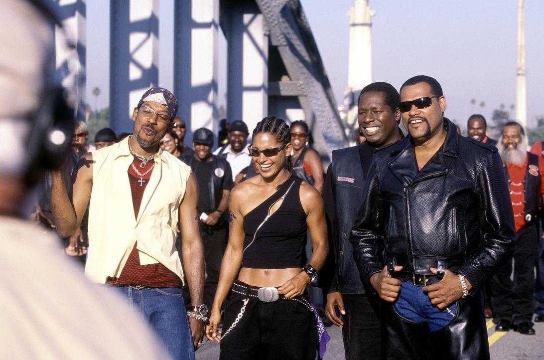 Haben einen starken Gegner: (v.l.n.r.) Soul Train (Orlando Jones), Half & Half (Salli Richardson), Reverend Maxwell (Wren T. Brown) und Smoke (Laure... - Bildquelle: DreamWorks SKG