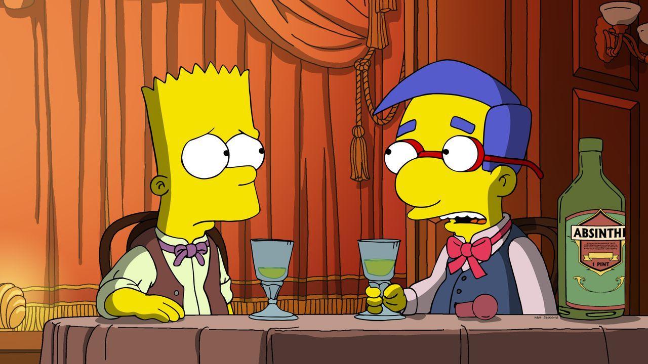 Bart (l.); Milhouse (r.) - Bildquelle: 2020 by Twentieth Century Fox Film Corporation.