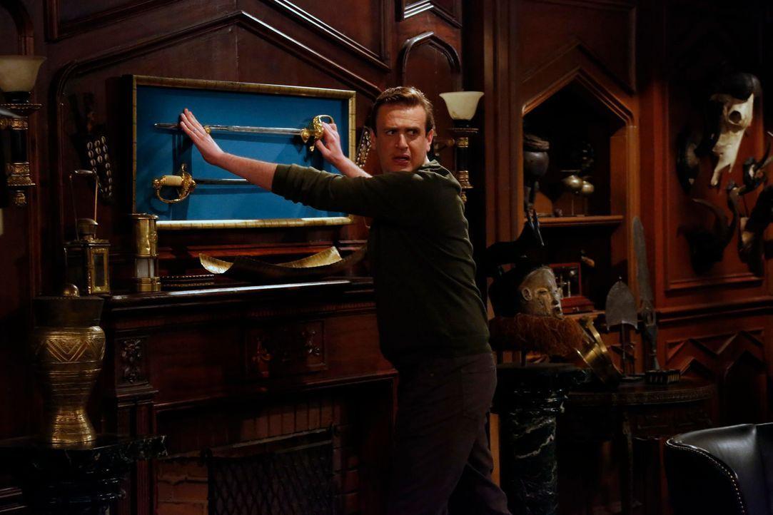 Marshall (Jason Segel) will den Captain mithilfe eines Schwertkampfes zur Rede stellen ... - Bildquelle: 2014 Twentieth Century Fox Film Corporation. All rights reserved.