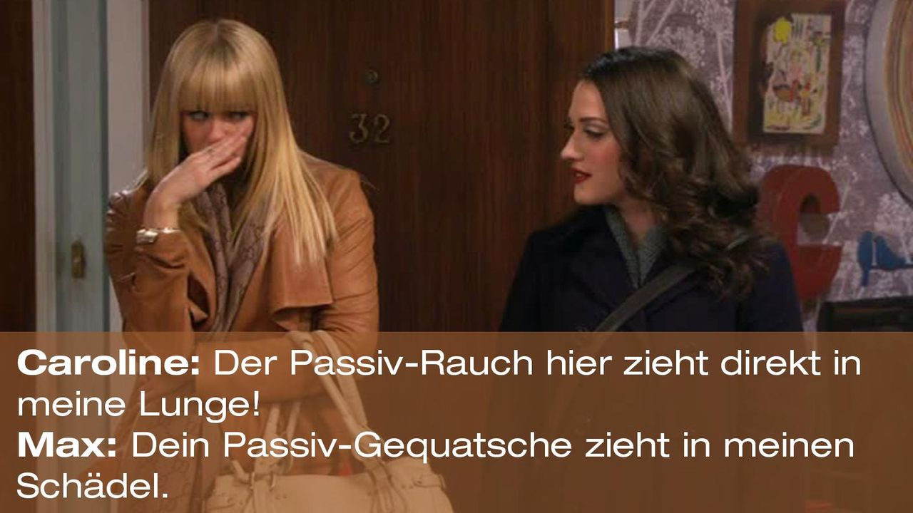 2-broke-girls-zitat-quote-staffel2-episode12-breite-weihnachten-max-passiv-warnerpng 1600 x 900 - Bildquelle: Warner Bros. International Television