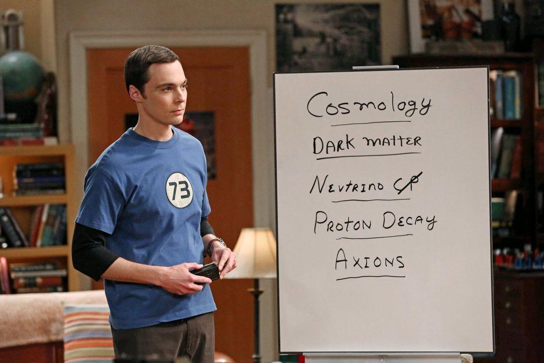 Gerät mit Penny, Amy und Bernadette aneinander: Sheldon (Jim Parsons) ... - Bildquelle: Warner Brothers