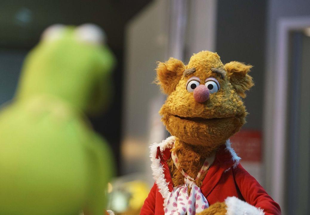 Kermit (l.) muss sich um Fozzie (r.) kümmern, der an Liebeskummer leidet, nachdem Becky mit ihm Schluss gemacht hat ... - Bildquelle: Andrea McCallin ABC Studios