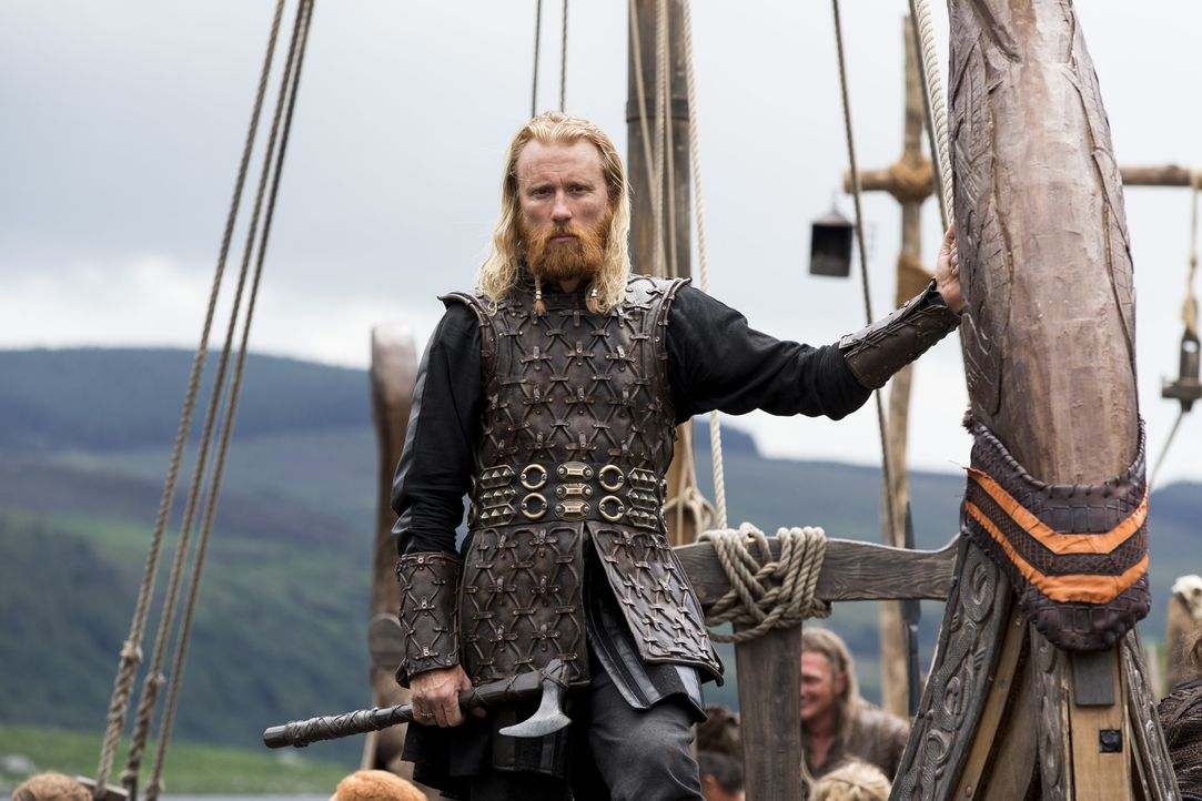Da die meisten Krieger mit Ragnar in England sind, beginnt Jarl Borg (Thorbjorn Harr) in Kattegat seine ganz eigenen Pläne zu verfolgen. Er versucht... - Bildquelle: 2014 TM TELEVISION PRODUCTIONS LIMITED/T5 VIKINGS PRODUCTIONS INC. ALL RIGHTS RESERVED.