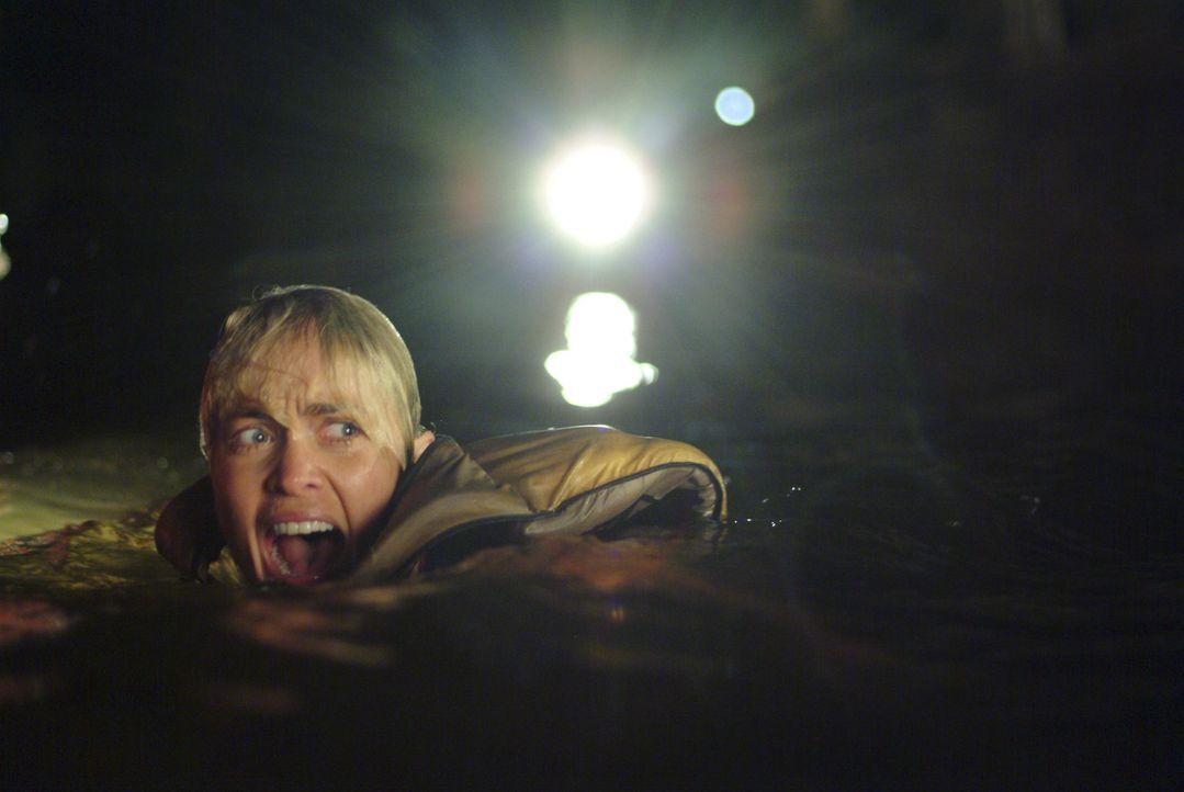 Wie schnell schwimmst du? Die Gestrandeten beschließen, dass Killerkrokodil auszutricksen. Während Kate (Radha Mitchell) schwimmen soll, um Hilfe...