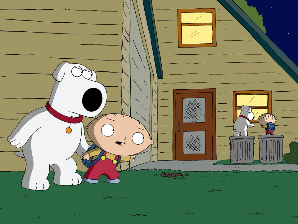 Brian (l.) und Stewie (r.) begeben sich auf eine Reise in die Vergangenheit und sorgen für ein riesiges Chaos ... - Bildquelle: 2011 Twentieth Century Fox Film Corporation. All rights reserved.