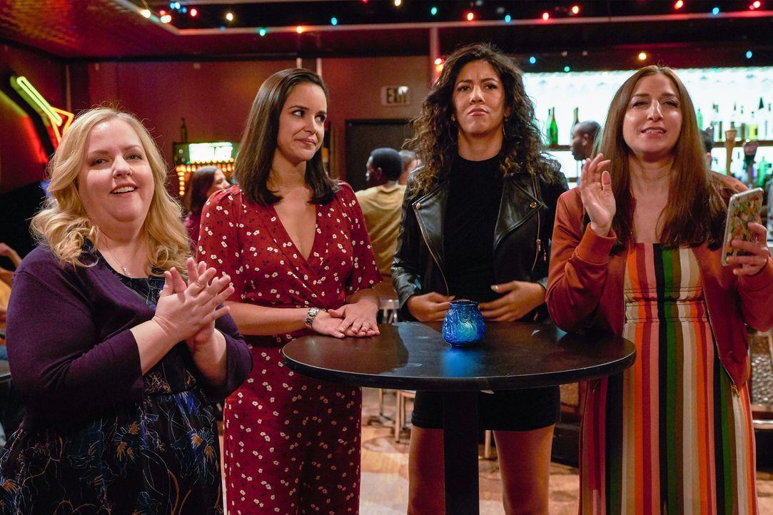 (v.l.n.r,) Kylie (Sarah Baker); Amy Santiago (Melissa Fumero); Rosa Diaz (Stephanie Beatriz); Gina Linetti (Chelsea Peretti) - Bildquelle: John P. Fleenor 2018 UNIVERSAL TELEVISON LLC. All rights reserved. / John P. Fleenor