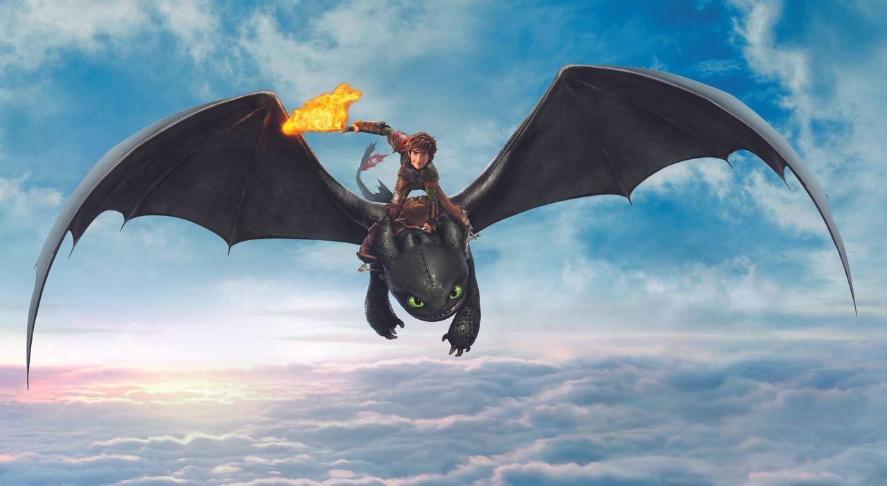 DRACHENZÄHMEN LEICHT GEMACHT 2 - Artwork - Hicks (oben) liebt es, mit seinem Drachen Ohnezahn (unten) die große weite Welt zu erforschen. Doch als d... - Bildquelle: 2014 DreamWorks Animation, L.L.C.  All rights reserved.
